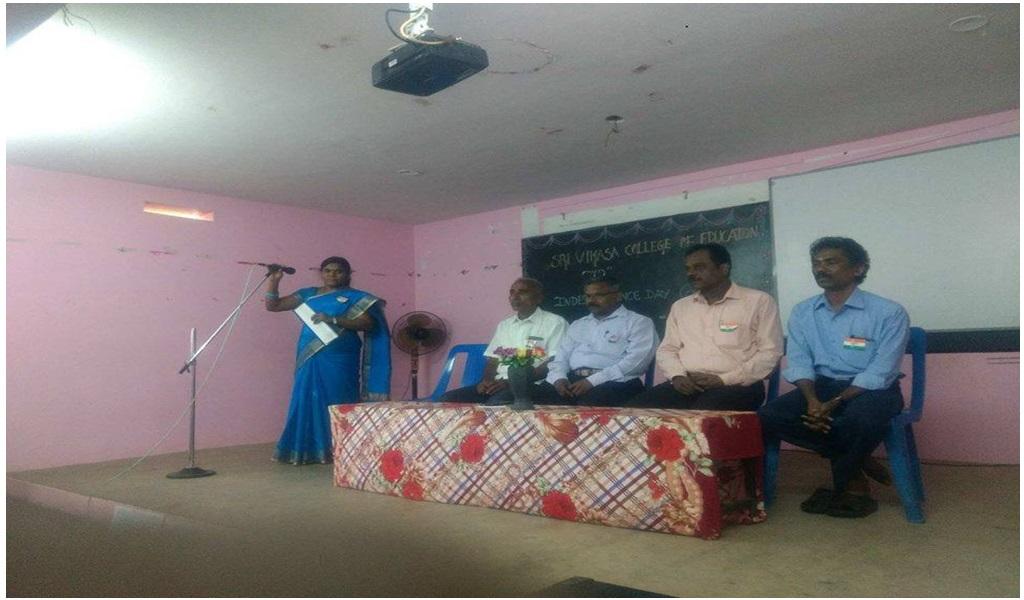 உத்தமபாளையம், விகாசா கல்வியியல் கல்லூரியில் விடுதலை நாள் விழா - படம் - 2
