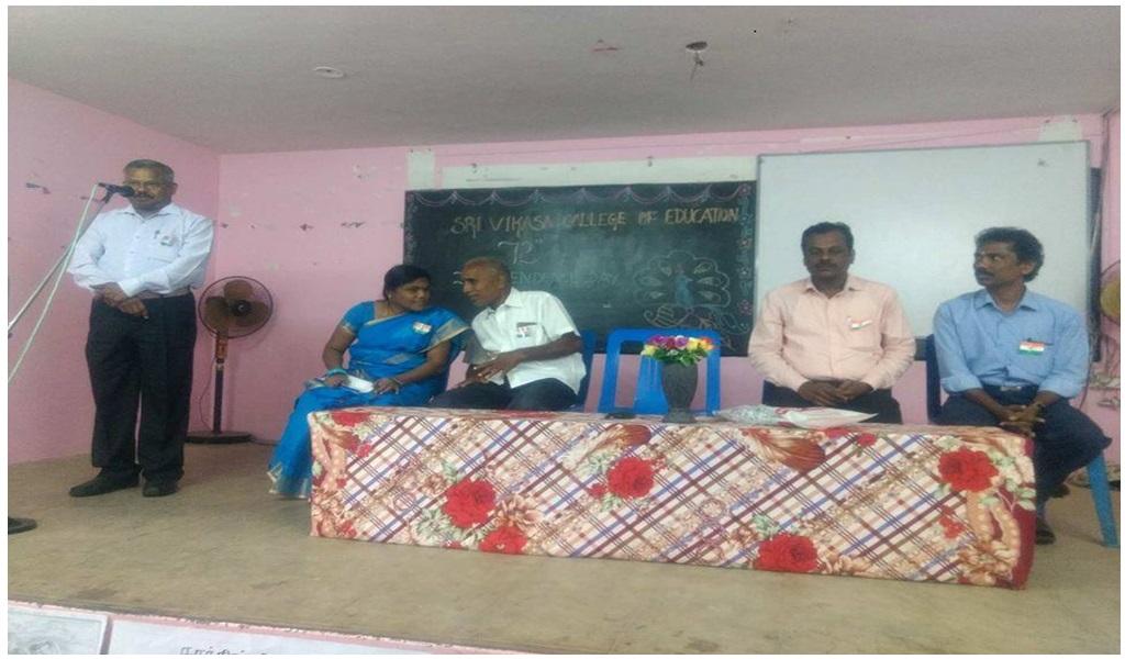 உத்தமபாளையம், விகாசா கல்வியியல் கல்லூரியில் விடுதலை நாள் விழா - படம் - 3